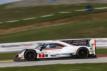 Ricky Taylor qualified his Acura ARX-05 prototype on the outside
